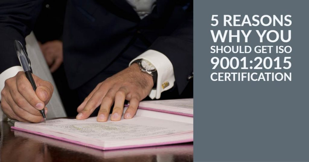 ISO 9001:2015 Certification in UAE